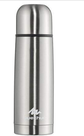 Quechua Trinkflasche Thermos 0,4l Grau Metall