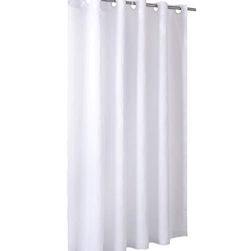 Qsy curtain Duschvorhang peva wasserdichter Schimmelvorhang Vorhang Schlichtes Hotelbadezimmer, 1,2x2 Meter, weiß