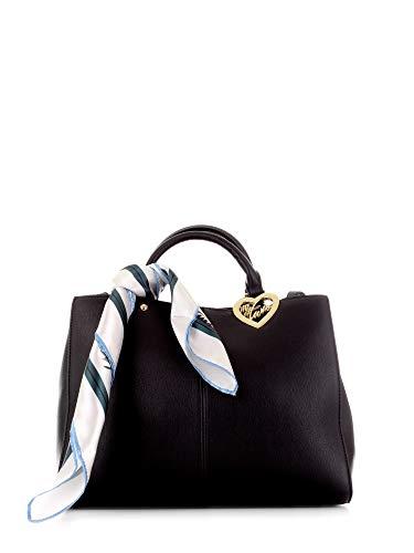 Twinset Mytwin borsa donna a spalla shopper con foulard nero