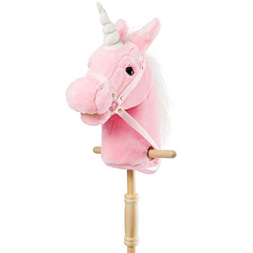 HollyHOME Plush Unicorn Stick Horse with...