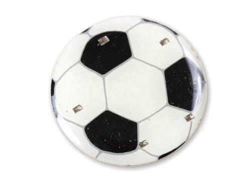 Blinki LED Anstecker Blinky Brosche LED Pin Button viele Motive, wählen:Fußball 05