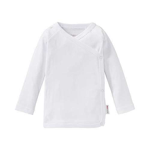 Bornino Baby Raglan-Flügelhemd/Basics Babybekleidung/Pullover/Wickelshirt/Größe 50 / weiß