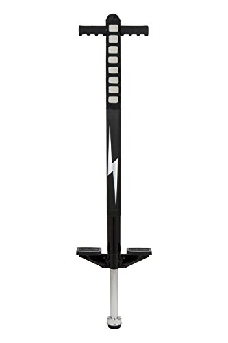 Flybar Foam Maverick Pogo Stick for Kids Ages 5+, Weights 40 to 80 Pounds by The Original Pogo Stick Company, Black/Silver