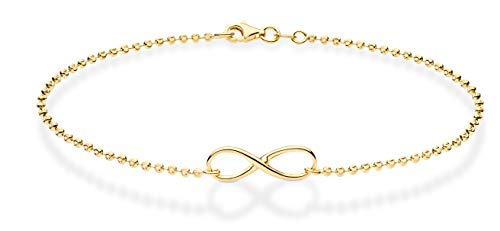 Miabella 925 Sterling Silver Diamond-Cut Infinity...