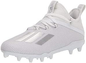 adidas Kids Unisex Adizero Football Shoe, Ftwr White/Ftwr White/Silver Met., 6 US