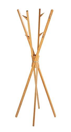 WENKO Standgarderobe Mikado aus Bambus Hängeschrank Hängeregal Diele Flur