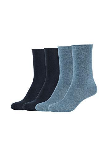 s.Oliver Damen Socken 4er Pack mit weichem B& stone melange+navy, 39/42