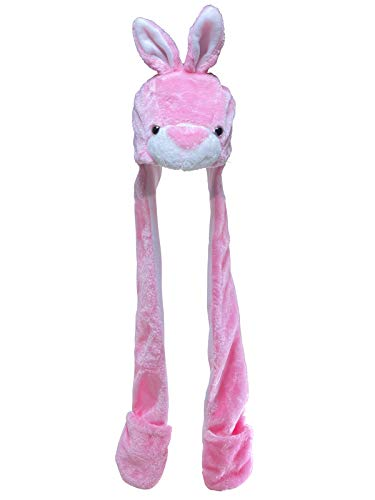 Jixin4you Sombrero para niños y niñas adultos con cabeza de animal y capucha, bufanda, guantes de felpa, talla única, juego 3 en 1