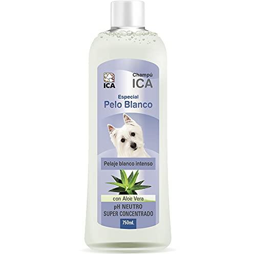 ICA CHPM21 Champú Especial Pelo Blanco con Aloe Vera para Perros