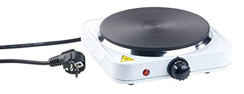 Rosenstein & Söhne Camping Kocher: Kompakte elektrische Einzel-Kochplatte, 1.500 Watt, 185 mm, stufenlos (Elektrische Herdplatte)
