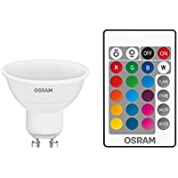 Ledvance LED Base PAR16 RGBW 25 dimmable Via Remote Control 120° 4,5W/827 GU10 Bombilla, 4.5 W, Blanco, 5.6 x 5 x 5 cm