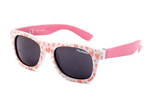 Kiddus Baby Sonnenbrille POLARISIERT Linsen für Jungen Mädchen. Ab 8 Monaten. Mit flexiblen Beinen. UV400 100% UVA- und UVB-Schutz. Sicher, komfortabel und stoßfest. LITTLE KIDS
