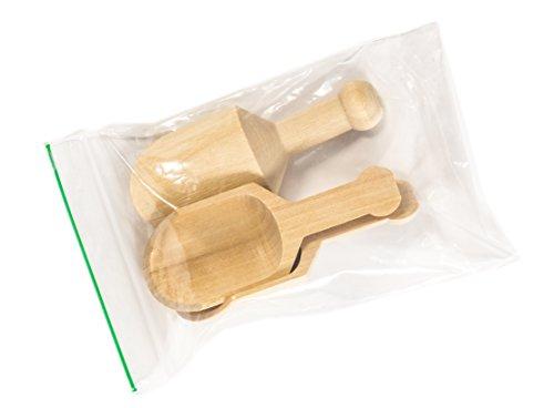 Perfect Stix 10-Pack Mini Wood Scoop, 4-1/4 L x 1-1/4 W-Inch