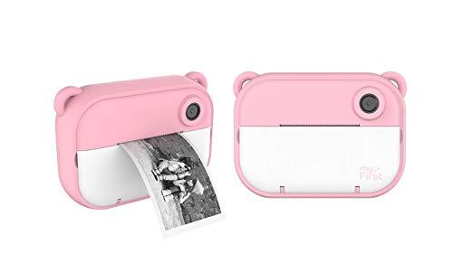 myFirst Camera Insta 2 Instant Camera Hybrid Instant Camera Pink Film Sticker (140 Shots) Front and Selfie Lens for boy Girl (Pink)