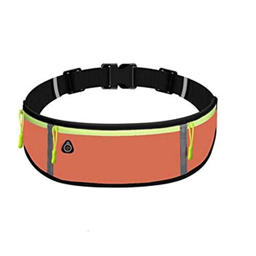 KJDS Bolsa de cintura unisex para correr con cinturón deportivo para hombres, deportes, ciclismo, bolsa de teléfono impermeable para mujeres, para correr, para iPhone, Samsung (naranja)