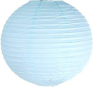 Papierlaternen, rund, 10,2 cm, 15,2 cm, 20,3 cm, 25,4 cm, 30,5 cm, 35,6 cm, 40,6 cm, für Hochzeit, Geburtstag, Party (35 cm), Babyblau