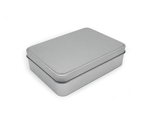 DingSheng pequeña caja de lata 125 * 90 * 35 mm Bisagra Metal lata contenedores caja de joyería para manualidades caja de joyas de metal clave caja de