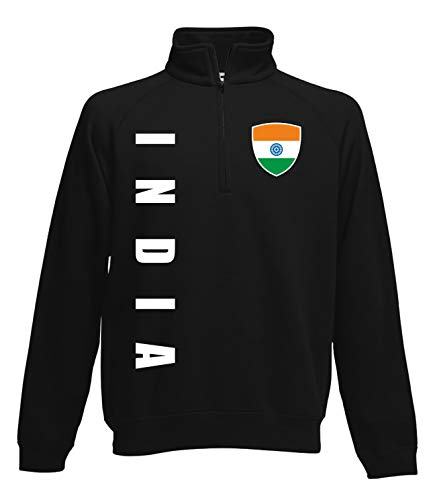 Aprom Indien Zip Sweater Pullover Trikot Look Neck Fussball Sport SPA (M)