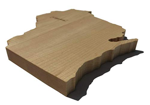 WISCONSIN Home Cutting Board & Wisconsin Gifts Made in USA | Wisconsin Home Decor Souvenir Serving as a Chopping Block or Cheese Tray