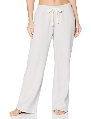 Iris & Lilly Damen Schlafanzughosen aus Fleece, Grau (Grey Plain), S, Label: S