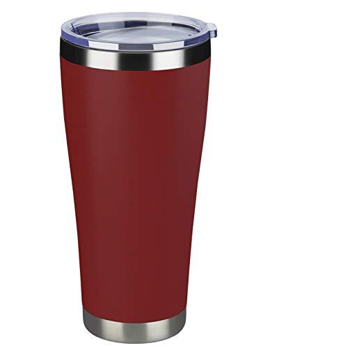MEWAY 32oz Coffee Tumblers Vacuum Insulated Cups Double Wall Stainless Steel Tumbler with Lid Durable Powder Coated Thermos Coffee Mugs for Ice and Hot Drink Red 1