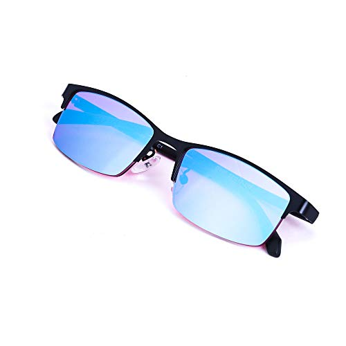 Color Blind Glasses Blue Green Purple Color Blindness Glasses for Men and Women,Halfframe