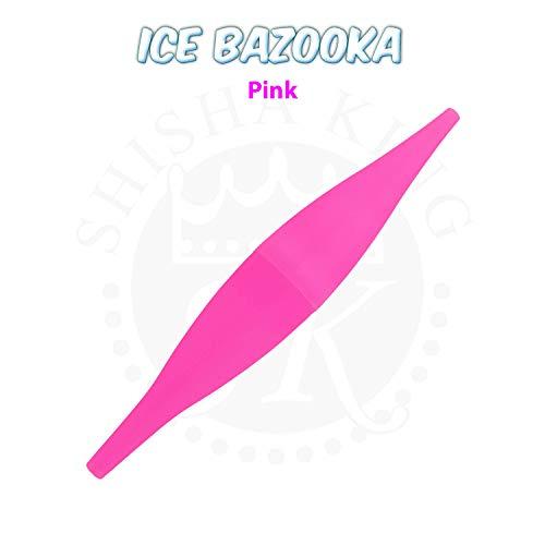 Shisha King® Ice Bazooka EIS Mundstück & Kühlpad Set | Wasserpfeife Eisschlauch Kühlakku Zubehör | für jeden Schlauch | 90 min Kühlung kalter Rauch (Pink)