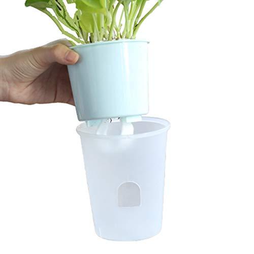 Gofeibao Macetas Riego Automatico Maceta Plastico Grande Flor Olla Interior La Planta Olla Semillas de ollas Al Aire Libre Macetas Planta de Marihuana