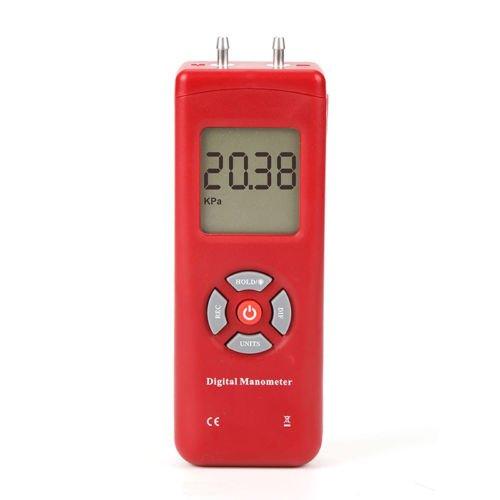 Differenzdruck-Messgerät Differenzdruckmessgerät handliches Digital Manometer Luft-Differenzdruck messgerät TL-100