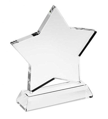Trofeo Estrella de Cristal Blanco cod.EL31490 cm 7x2x10h by Varotto & Co.