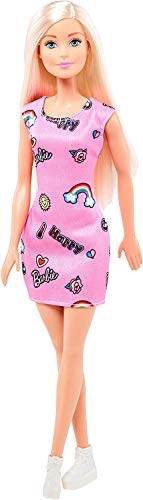 barbie trendy Barbie Trendy con Abito-Stampato con Divertenti Icone