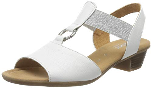 Gabor Shoes Comfort Sport, Sandalia con Pulsera para Mujer, Blanco (Weiss 50), 35.5 EU