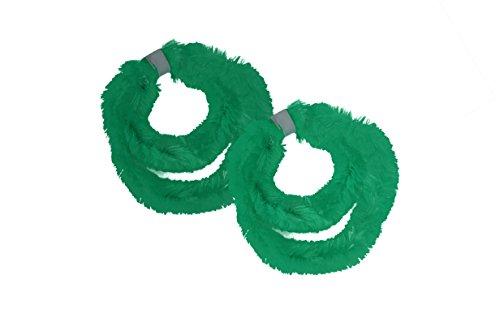 Helmecke & Hoffmann * Zwei Paar (Vier Stück) Nabenputzringe aus Chenilledraht (Grün)