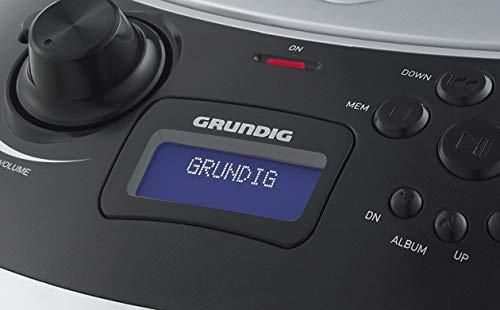 Grundig GPR1150 GRB 4000 BT DAB+ Tragbare RadioBoomboxmitBluetoothundDAB+EmpfangSilber/Schwarz