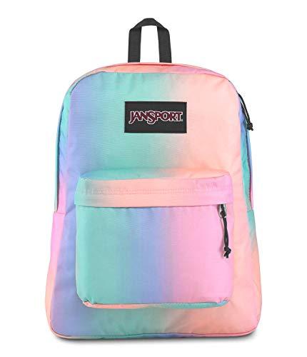JanSport SuperBreak Plus Laptop Backpack - Lightweight School Pack, Pastel Ombre
