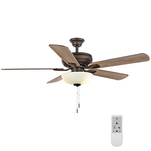 Rothley II 52 in. Bronze LED Smart Ceiling Fan with Light...