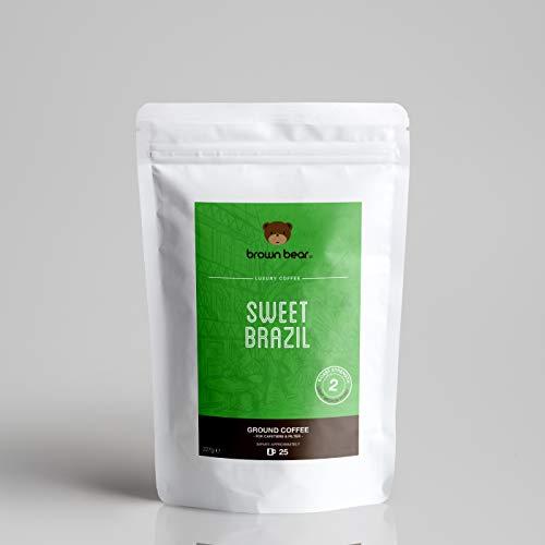 Brown Bear Sweet Brazil Gemahlener Kaffee, Hell Röstung, 227 g Light Medium Roast Ground Coffee