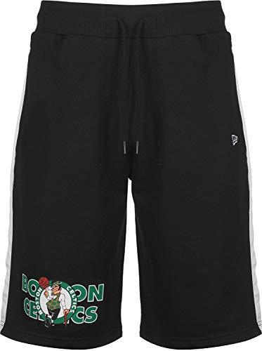 New Era NBA Team Graphic Overlap Shorts (Small, Boston Celtics - Black)