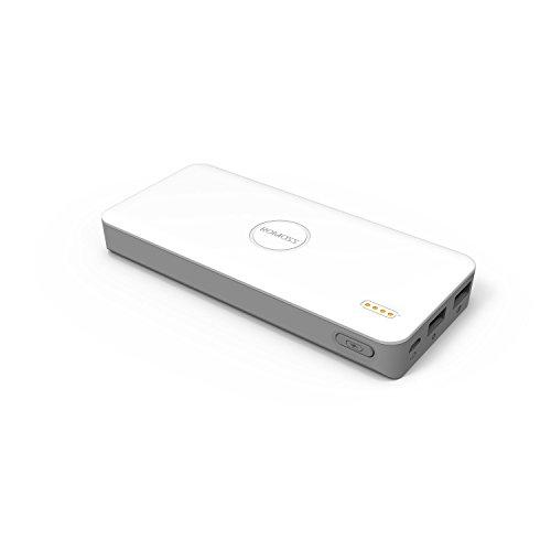 Romoss Powerbank 5000 mAh 2 poorten USB vermogen 2,1 A voor smartphone/tablet-/inbreekbeveiliging wit
