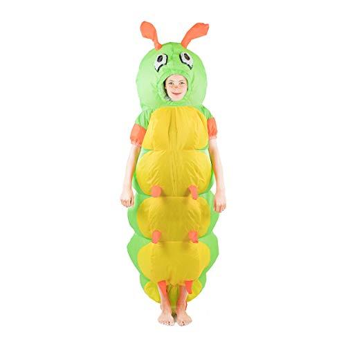 Bodysocks Fancy Dress Kinder Aufblasbares Raupe Kostüm