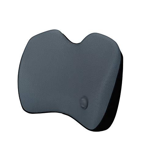 YNES Car Lumbar Cushion Waist Protector Breathable Memory Foam Lumbar Cushion for Car Office, Waist Rest Cushion Office Chair (Color : Gray)