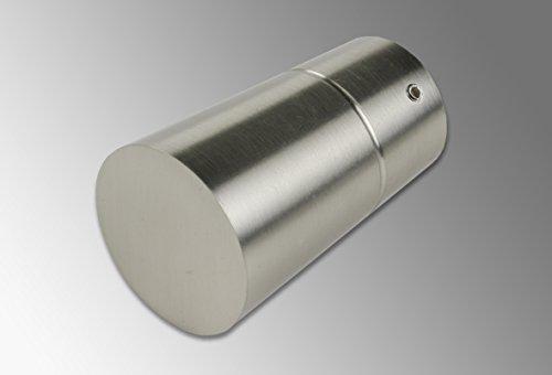 Liedeco eindstuk, eindknop Topolino voor gordijnroede, buizen 28 mm ø | roestvrijstalen look | 1 stuk