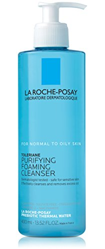 La Roche-Posay Toleriane Face Wash Cleanser, Purifying Foaming Cleanser for Normal Oily & Sensitive Skin, 13.52