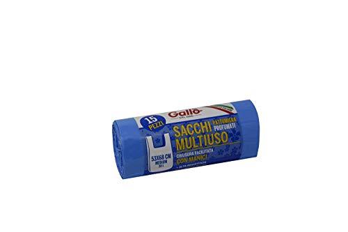 Gallo Müllbeutel, recycelter Kunststoff, hellblau, 53 x 68 cm, 30 l, Medium