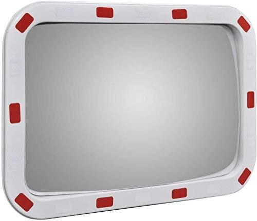Hfyg Verkeersspiegel Road Security spiegel Rechthoek Convex Verkeersspiegel Geschikt voor Garages, Parkeerplaatsen, Ziekenhuis