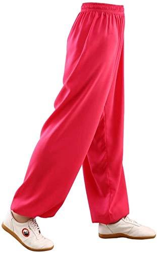 NOLLY Tai Chi Hosen Mens Womens Martial Arts Pants Kung Fu Baumwollhose Yoga Laterne Hose,D-M