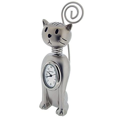 GTP IMP1081S - Reloj de pulsera con diseño de gato en miniatura, unisex, diseño de gato vertical