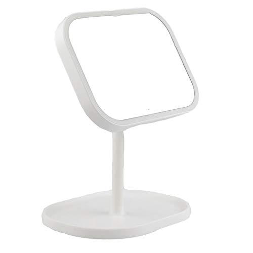 Miroir de maquillage LHY à LED Table Lumineuse Rabattable Commode dortoir d'étudiants Commode Miroir d'éclairage La Mode (Color : White)