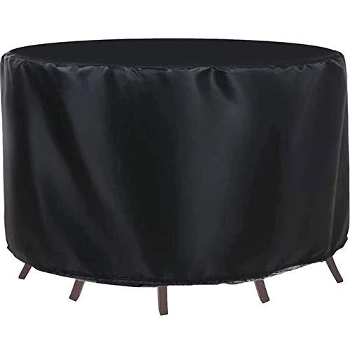 Funda Mesa Jardin Redonda Impermeable, Funda Protectora Muebles Exterior, Cubierta de Muebles de Patio, Resistente al Desgarro, 420d Oxford Resistente Al Polvo