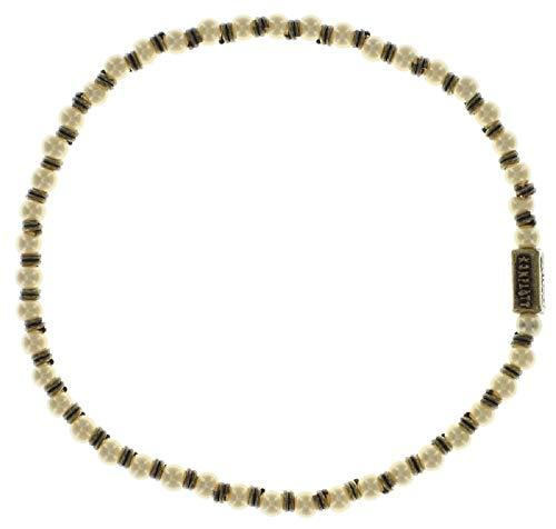 Konplott: Armband Indian Roses beige, feines flexibles Armband mit cremefarbenen Perlen, für Damen/Frauen